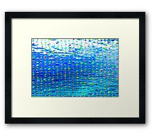 Oil painting of Aqua background and light rays Framed Print