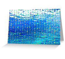 Oil painting of Aqua background and light rays Greeting Card