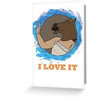 I love it horse mask Greeting Card