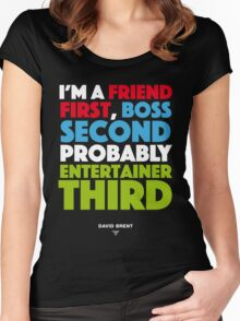 David Brent - Entertainer Women's Fitted Scoop T-Shirt
