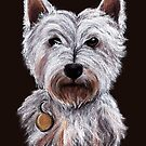 Westie - West Highland Terrier by Lisa Marie Robinson