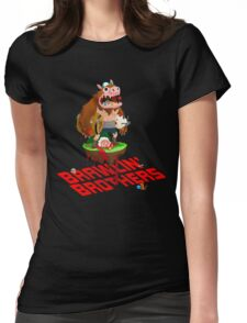 Brawling Brothers - ManBearPig Womens Fitted T-Shirt