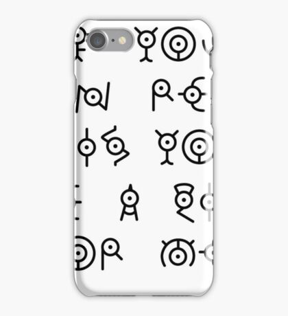Pokemon Funny Unkown  iPhone Case/Skin