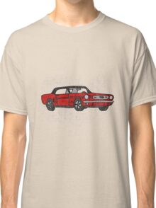Cool Fun Retro Red Mustang Convertible Art Classic T-Shirt