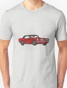 Cool Fun Retro Red Mustang Convertible Art Unisex T-Shirt