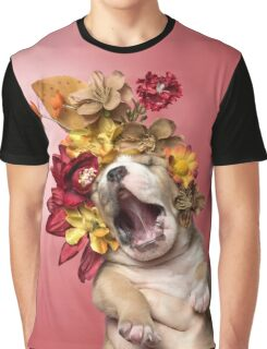Flower Power, Luvable puppy Graphic T-Shirt