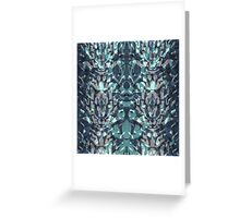 Abstract blue black pattern. Greeting Card