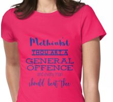 """Thou art a general offence"" Shakespeare insult (blue) Womens Fitted T-Shirt"