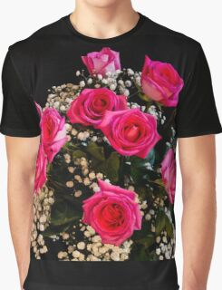 Pink Roses With All My Love Graphic T-Shirt