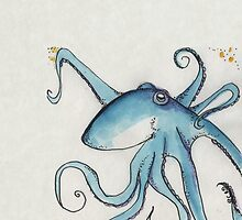 Blue Octopus by inkmaid