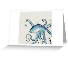 Blue Octopus Greeting Card