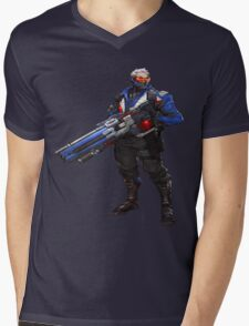 Soldier 76 Mens V-Neck T-Shirt