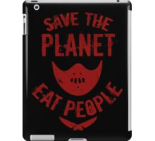 save the planet, EAT POEPLE #2 iPad Case/Skin