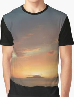 Sunset Over Naples Graphic T-Shirt