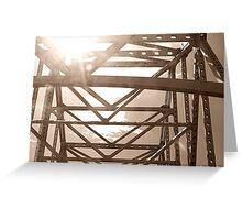Sun through the Bridge Greeting Card