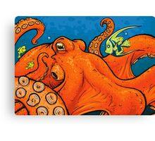 An Enormous Orange Octopus Canvas Print