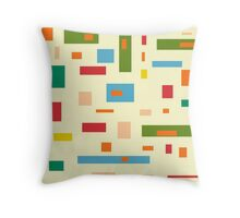 Shapely Shapes Throw Pillow