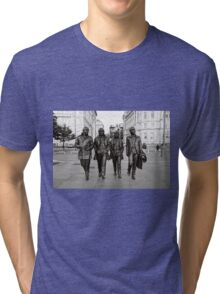 The Beatles in Black and White Tri-blend T-Shirt