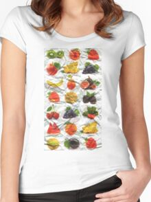 Crumpled Found Paper Bag Women's Fitted Scoop T-Shirt
