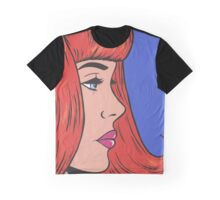 Ginger Bangs Comic Girl Graphic T-Shirt