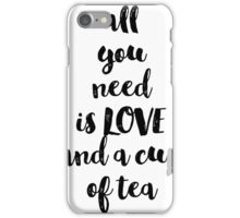 Calligraphy hand written phrases about tea iPhone Case/Skin