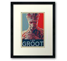 [I AM] GROOT Framed Print