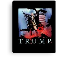 Donald J. Trump Presidential Election Funny Political Shirt Canvas Print