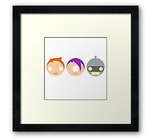 Planet Express Crew (Futurama) - Circley! Framed Print