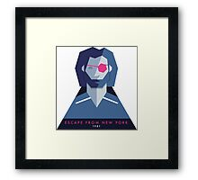Escape from New York (1981) 80s Sticker Framed Print