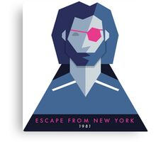 Escape from New York (1981) 80s Sticker Canvas Print