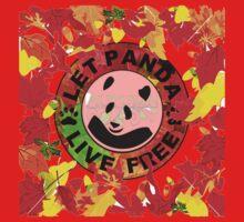 Let panda live free autumn Kids Clothes