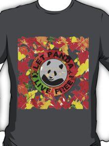 Let panda live free autumn T-Shirt