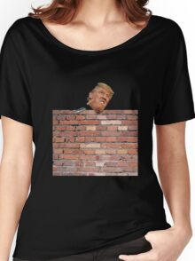Donald Trump Funny T-Shirt Build Wall 2016 Campaign Women's Relaxed Fit T-Shirt