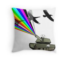 change fighters into birds Throw Pillow