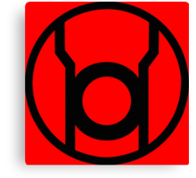 Red Lantern Corps Symbol - Reversed Canvas Print