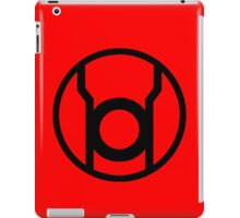 Red Lantern Corps Symbol - Reversed iPad Case/Skin