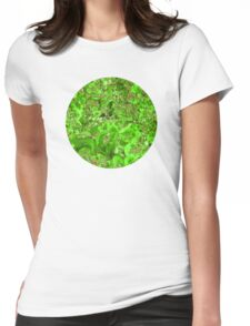 Marble Emerald Green Ruby Red Womens Fitted T-Shirt