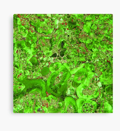 Marble Emerald Green Ruby Red Canvas Print