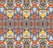 Abstract Tribal Pattern by Phil Perkins