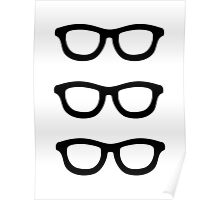 Smart Glasses Pattern Poster