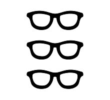 Smart Glasses Pattern Photographic Print