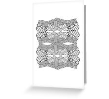 Black and White Abstract 2 Greeting Card