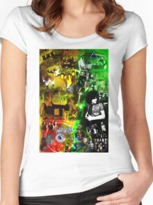 Pink floyd wall Women's Fitted Scoop T-Shirt