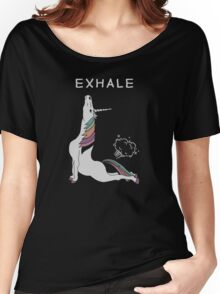 Unicorn - Exhale Women's Relaxed Fit T-Shirt