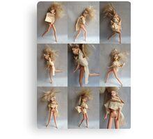Barbie Dolls Print. Miniature Art ® Canvas Print