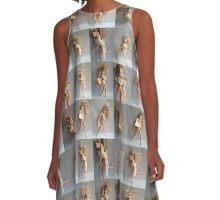 Barbie Dolls Print. Miniature Art ® A-Line Dress