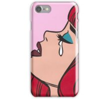 Red Bangs Crying Comic Girl iPhone Case/Skin