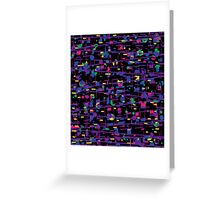 Purple universe Greeting Card