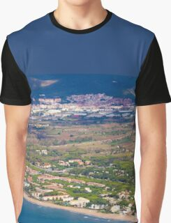 Castelldefels Beach, south of Barcelona, Catalonia, Spain Graphic T-Shirt