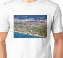 Castelldefels Beach, south of Barcelona, Catalonia, Spain Unisex T-Shirt